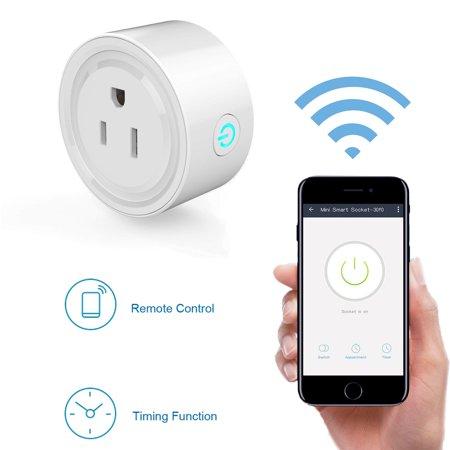Eeekit Mini Wifi Smart Remote Plug Wireless Switch Socket Wall Control Home Devices 1 Pack