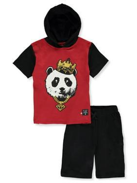 Blac Label Boys' Panda Hoodie 2-Piece Shorts Set (Toddler)