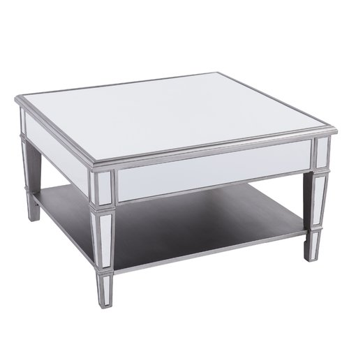 Willa Arlo Interiors Loganne Mirrored Square Coffee Table