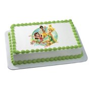 Walmart Tinkerbell Cake (Tinkerbell Pixie Fairies Fabulous Personalized Edible Cake Image)