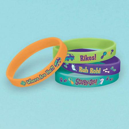 Scooby Doo Rubber Bracelet Favors (4 Pack) - Party Supplies