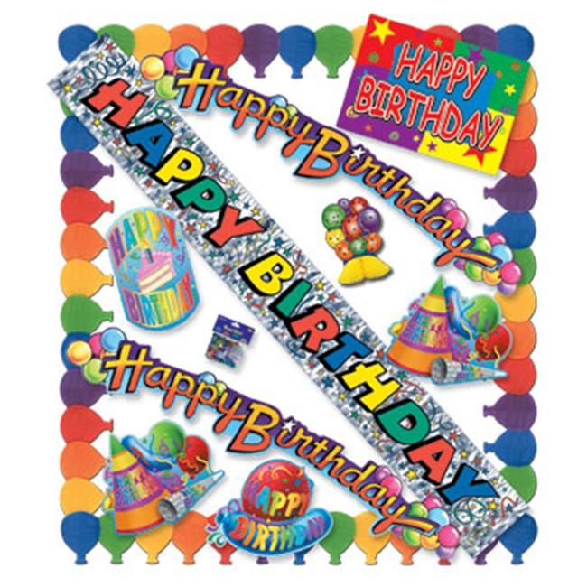 Beistle - 55022 - Happy Birthday Party Kit - Pack of 6