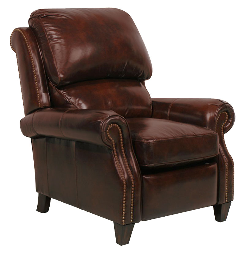 Churchill II Leather Recliner - Double Fudge (curbside delivery)