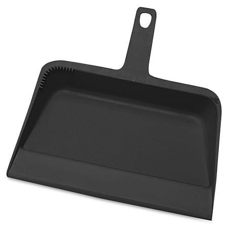 Genuine Joe, GJO02406, Heavy-duty Plastic Dust Pan, 1 / Each, Black