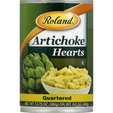 Roland Hearts Quartered Artichoke, 13.75 oz (Pack of 12) ()