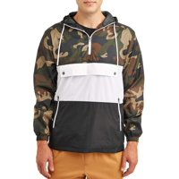 Deals on PNW Rhapsody Young Mens Quarter Zip Printed Colorblock Jacket