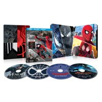 Spider-Man 4-Film Collection Spider-Man: Far from Home / Spider-Man: Homecoming / Spider-Man: Into the Spider-Verse / Venom (2018) (Blu-Ray + Digital Copy + Steelbook)