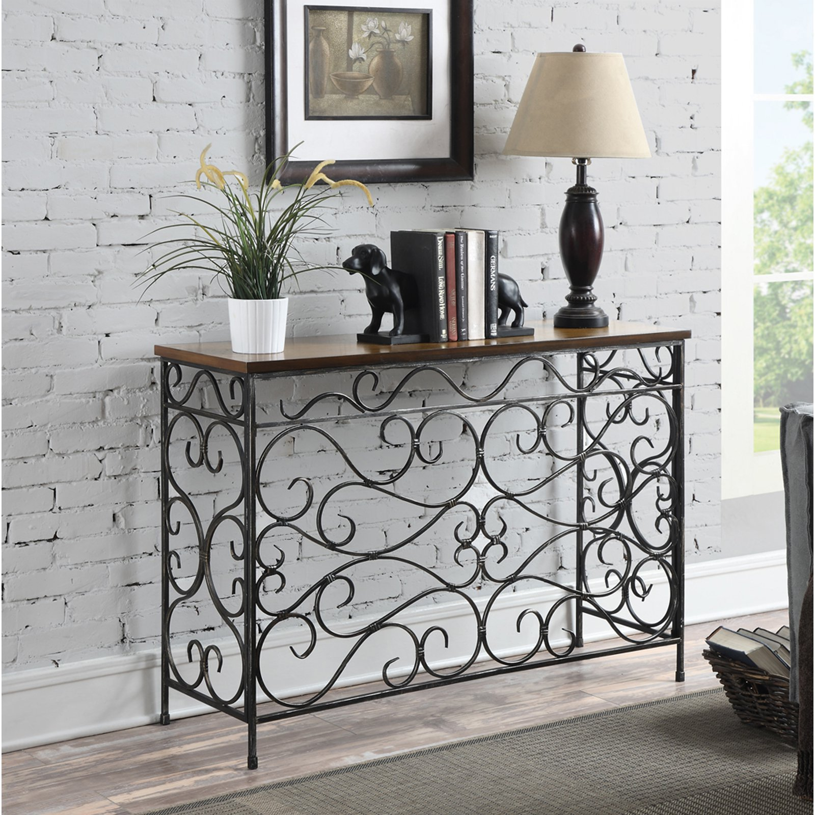 Convenience Concepts Wyoming Rectangle Console Table