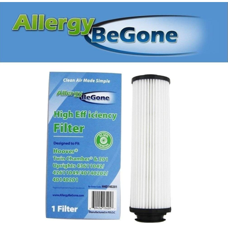 Allergy Be Gone Hoover 40140201 Long-Life HEPA Cartridge Filter. Compare with Part 40140201, 43611042, 42611049, Type (Best Hepa Filter Vacuum For Allergies)