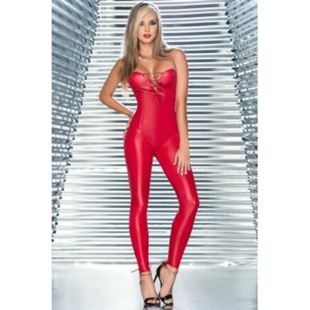 Red Accidental Love Jumpsuit Grupo Espiral 2410 Red