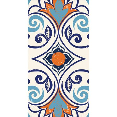 Moroccan Party (The Party Aisle Moroccan Tile Dinner 8'' Napkin (Set of)