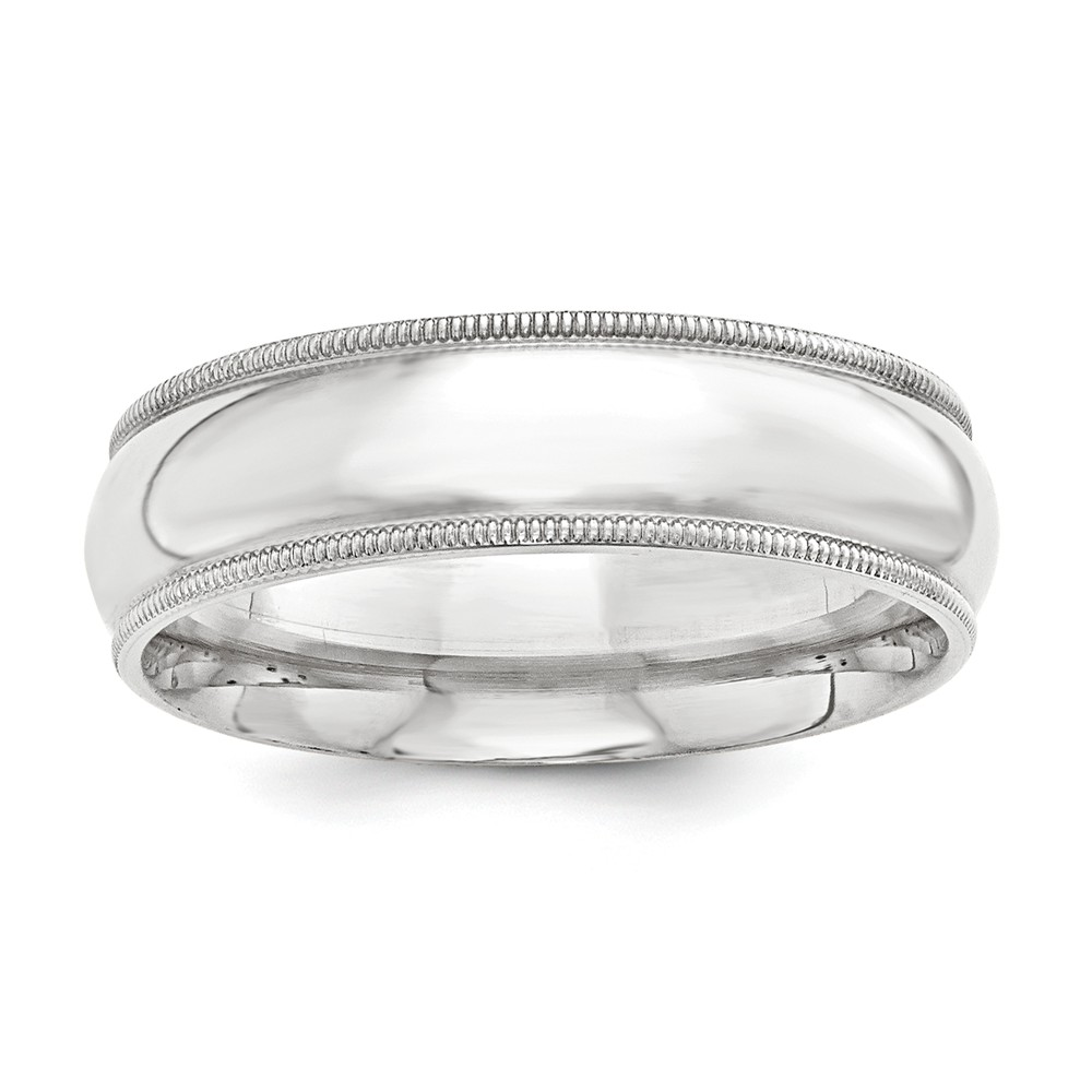 925 Sterling Silver Ss 9mm Comfort Fit Milgrain Size 5 Band