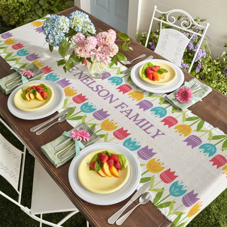 Personalized Spring Tulip Table Runner](Spring Table Runners)