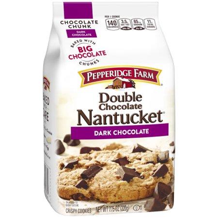 Pepperidge Farm Nantucket Crispy Double Chocolate Chunk Cookies, 7.75 oz. Bag