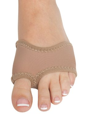 Danshuz Womens Girls Dark Tan Neoprene Ballet Slip On Half Sole Size XS-L