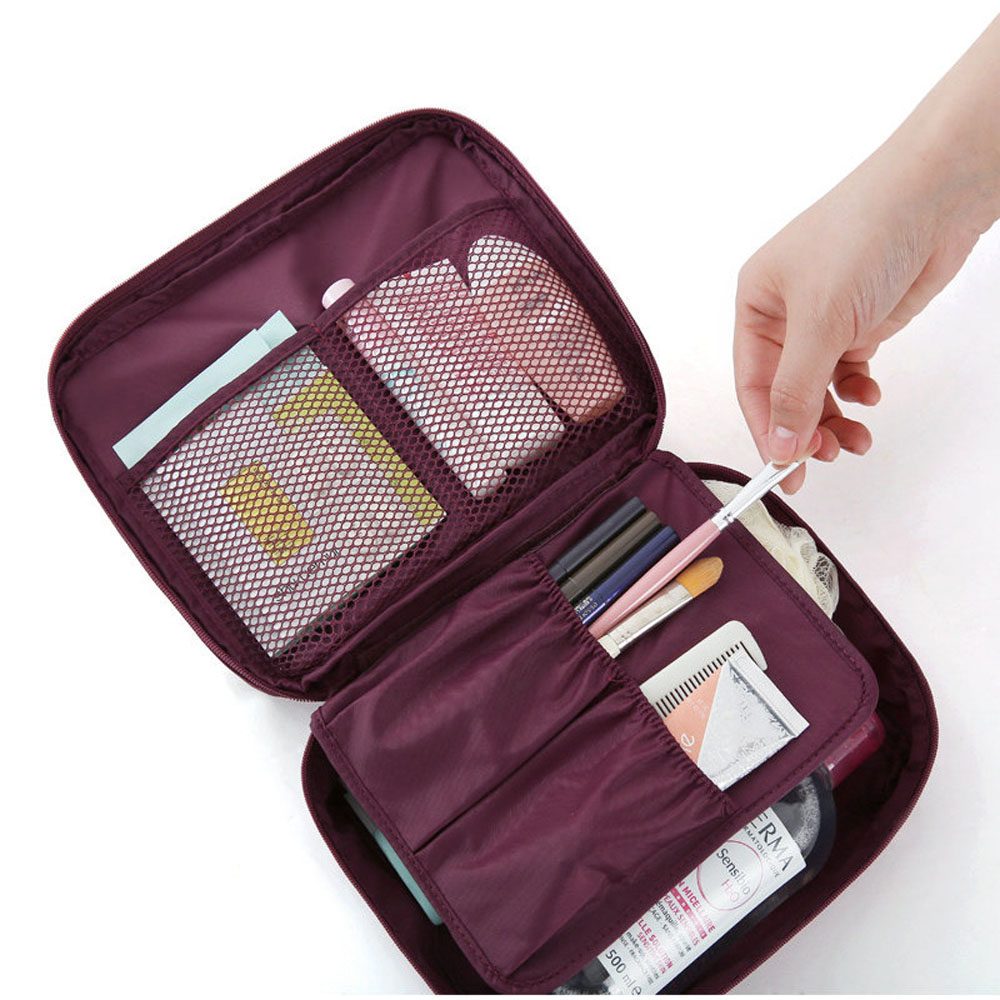 Hot Sale Multifunctional Travel Cosmetic Makeup Toiletry Portable Case Bag Wash Supplies Organizer Storage Pouch Handbag