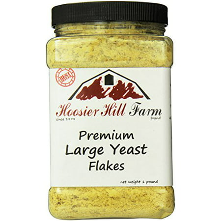 Hoosier Hill Farm Nutritional Yeast Flakes, 1 lb plastic jar