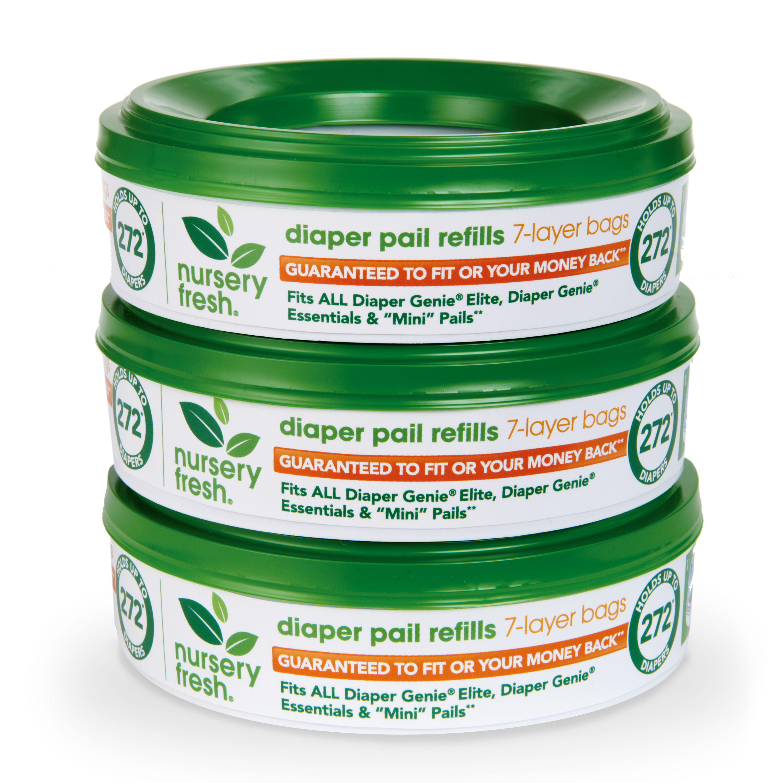 Nursery Fresh Diaper Pail Refills, 3 Count
