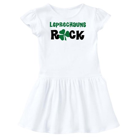 Leprechauns Rock St Patricks Day Toddler Dress - St Patricks Day Dresses