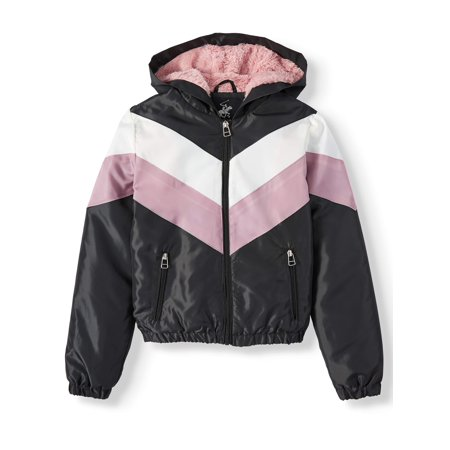 Beverly Hills Polo Club Fur Lined Colorblock Windbreaker (Big Girls) ()