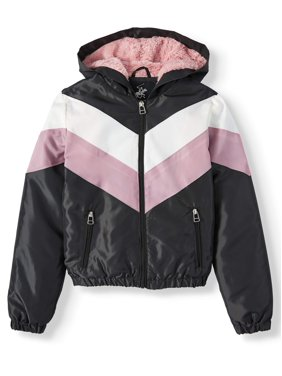 Beverly Hills Polo Club Fur Lined Colorblock Windbreaker (Big Girls)
