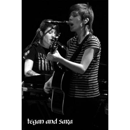 Tegan And Sara poster Metal Sign 8inx 12in (Tegan And Sara Halloween Poster)