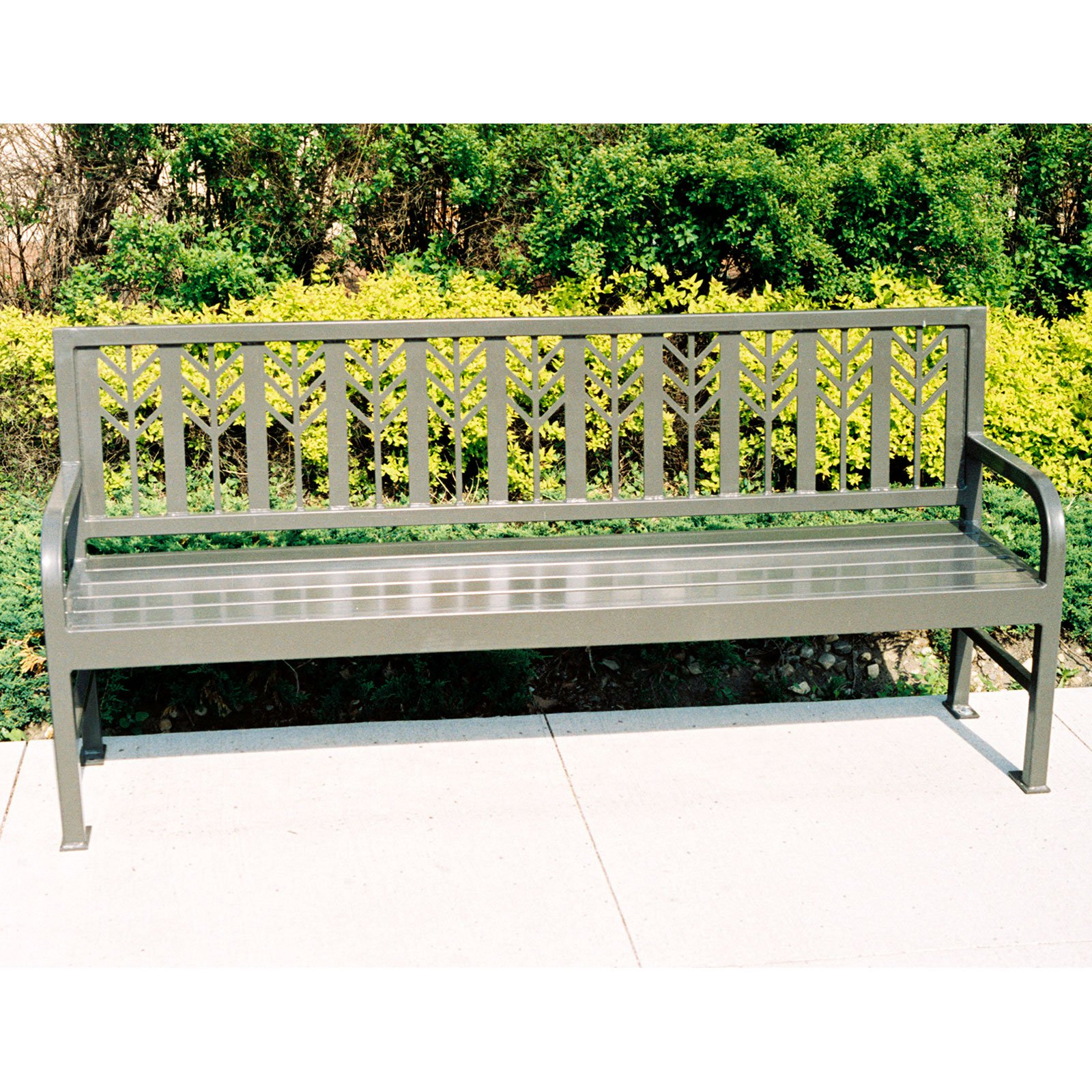 Petersen Mueller Steel Commercial Park Bench
