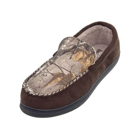 Canoe Moccasin - Northern Trail Brown Camo Moccasin Men's Slippers