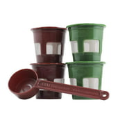 4-Pack Reusable K-Cups & Coffee Scoop by Perfect Pod | Compatible with Keurig Single Serve Coffee Makers