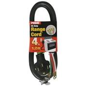 Prime RD628204L 4' 6/2 & 8/2 SRDT Black 50 Amp Range Cord