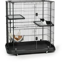 Prevue Pet Products, 3-Tier & 1 Hammock Playpen, Cat Cage, Black, 45-in