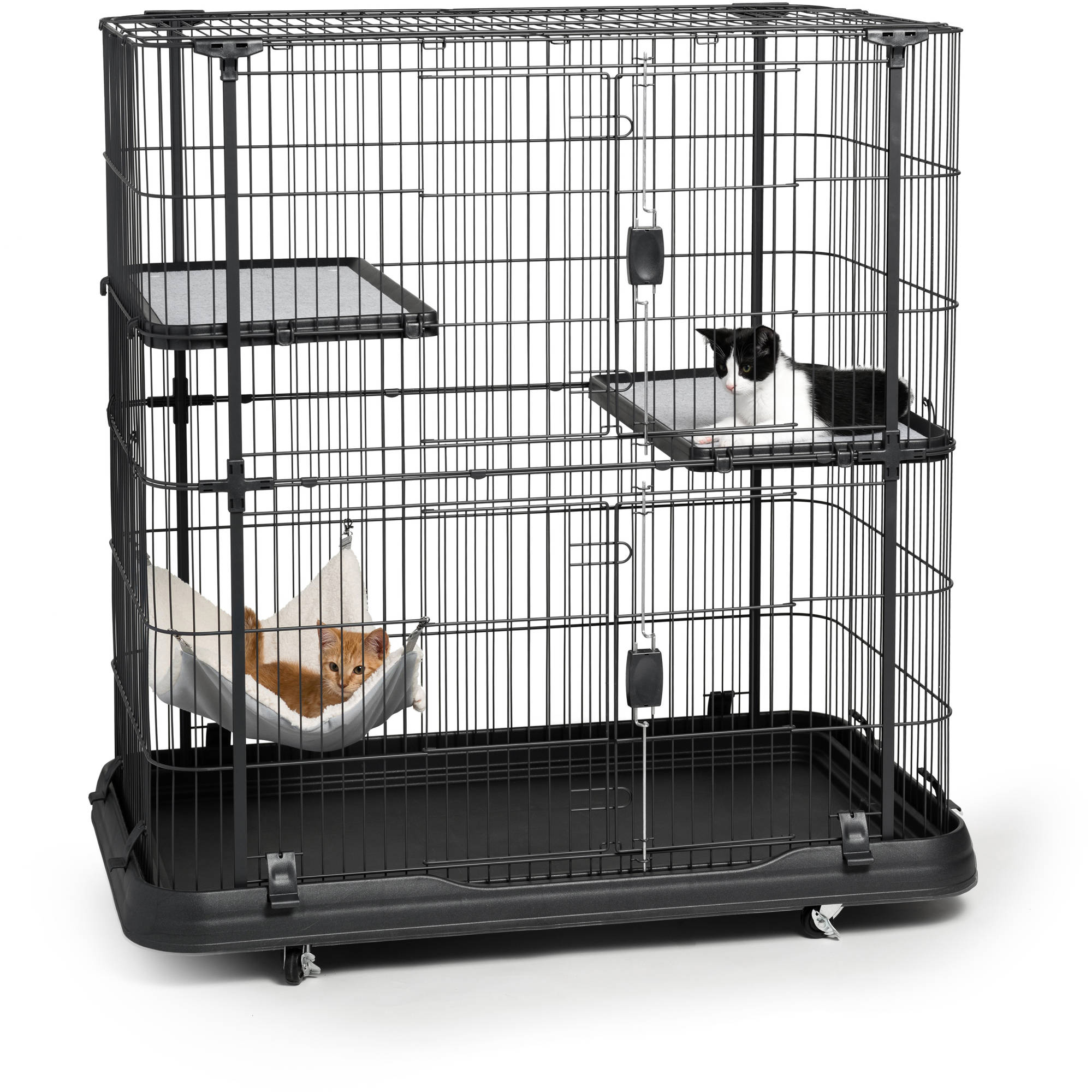 Prevue Pet Products Deluxe Cat Home with 3 Levels, 7501