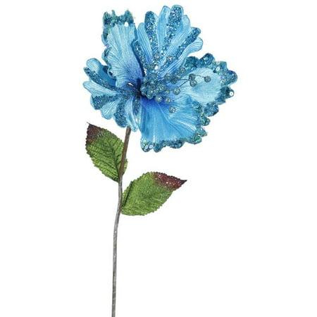 Sky Blue Hibiscus Flower Stem, 23 & 8 in. - image 1 of 1