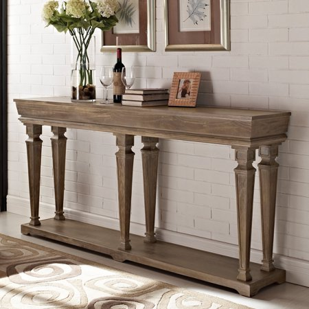 Powell Benjamin Console Table, Driftwood - Powell Media Console