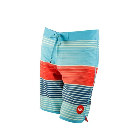 RVCA Mens VA Sport Sunday Stripe Trunk Boardshorts -