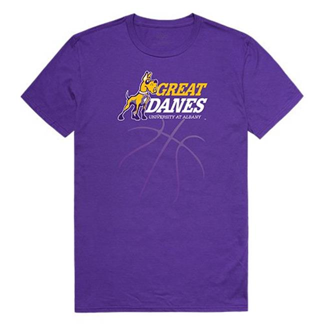 W Republic Apparel 510-103-328-04 UAlbany Basketball Tee for Men, Purple - Extra Large - image 1 of 1