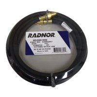 Radnor 1/4'' X 25' Black Inert Gas Hose With AW14-A Male Right Hand, B-Size Fittings