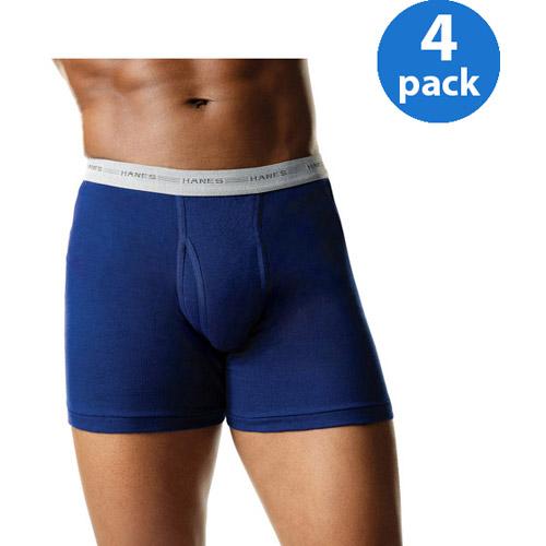 Hanes Big Men's FreshIQ Comfort Flex Waistband Boxer Brief 4-Pack, 2XL