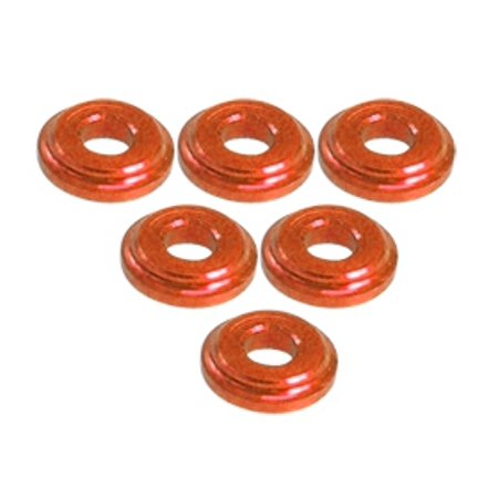 Shock Tower Shim - Integy RC Toy Model Hop-ups 3RAC-WFS820/OR 3Racing Shock Tower Shim M8 x 2mm (6pcs) - Orange
