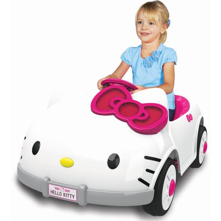 Dynacraft Hello Kitty Kitty Car 6 Volt Battery Powered Ride On