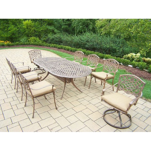 Oakland Living Mississippi 9 Piece Dining Set with Cushions
