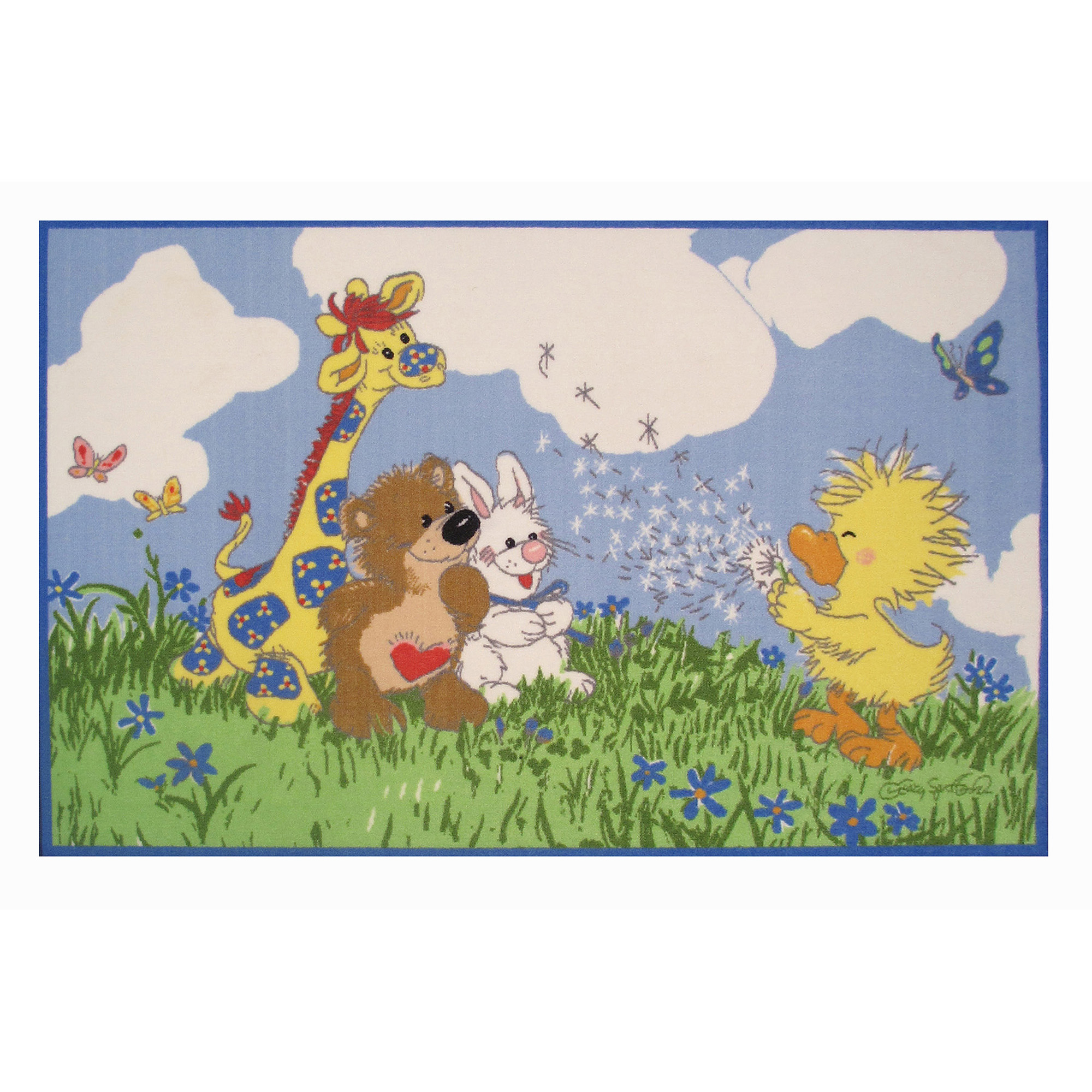 "Fun Rugs Little Suzy's Zoo Witzy Makes A Wish 39"" x 58"" Rug"
