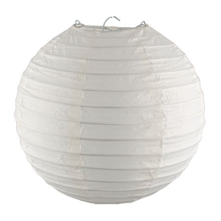 Unique Bargains Christmas Paper Handmade Lantern String  Off White 8