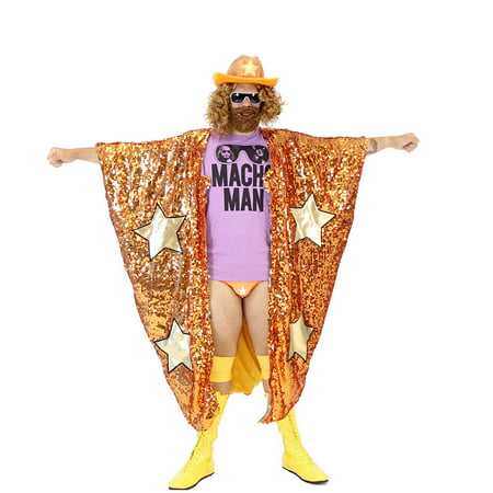 WWE Randy Savage Macho Man Madness Sequin Costume Cape (Randy Cunningham Halloween)