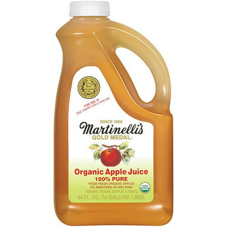 Martinelli's Gold Medal 100% Organic Juice, Apple, 64 Fl Oz, 6 Count ()