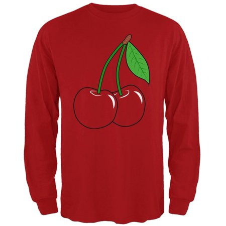 Halloween Fruit Cherry Costume Mens Long Sleeve T Shirt - Halloween Inspired Fruit