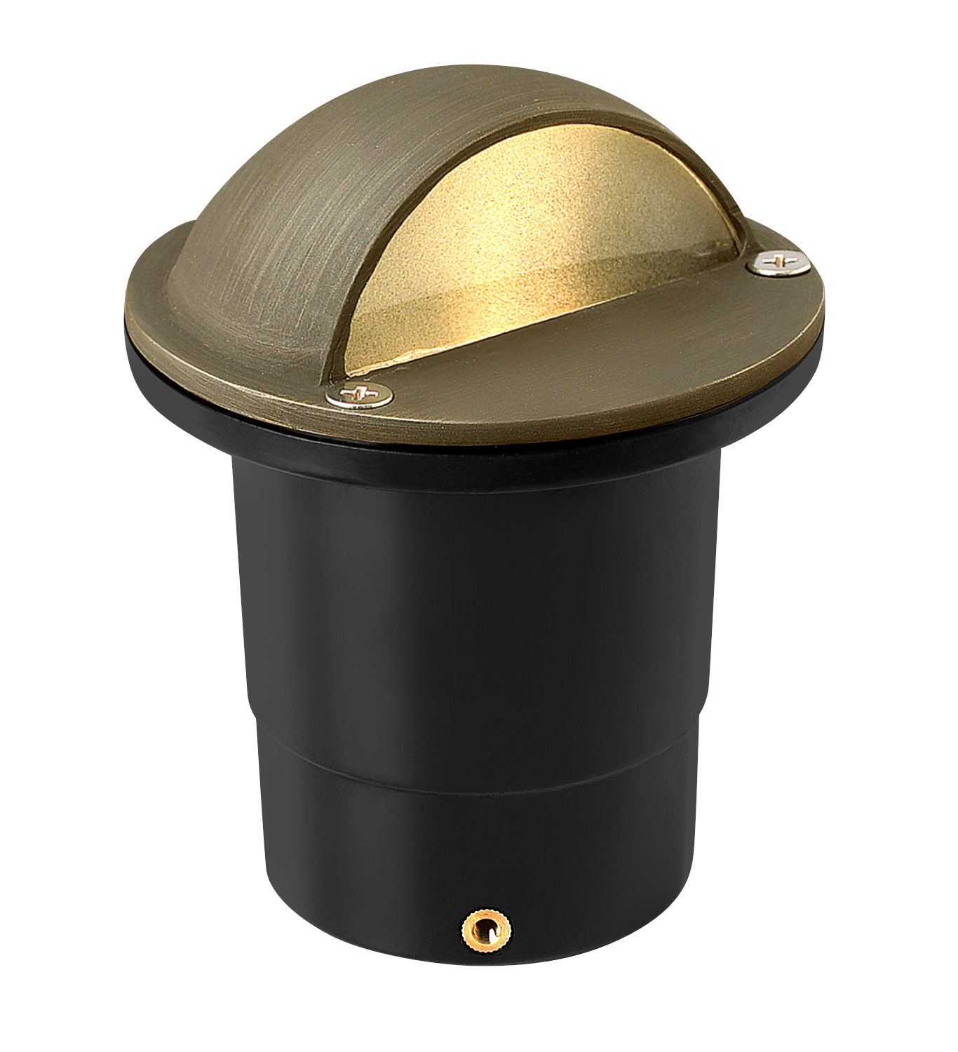 """Hinkley Lighting 16707 12v 20w Solid Brass 4"""" Diameter Landscape Dome Top Well Light from the Hardy Island Collection"""