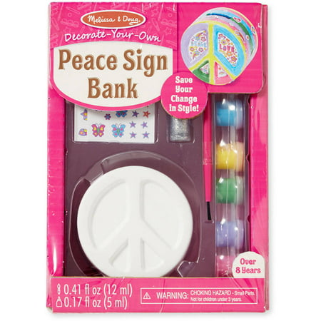 Melissa & Doug Decorate-Your-Own Peace Sign Bank Craft Kit