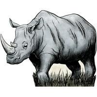 Wild Safari Dreams Rhino Standee