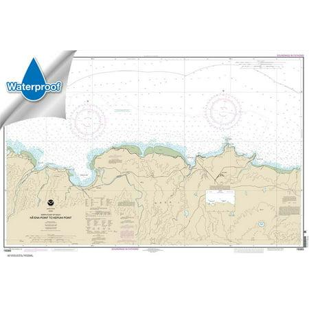 Pacific Coast Noaa Nautical Charts - WATERPROOF NOAA Chart 19385: North Coast of Kaua'i Ha'ena Point to Kepuhi Point